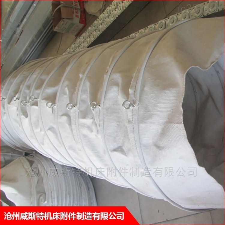 弹簧型水泥熟料散装伸缩帆布袋