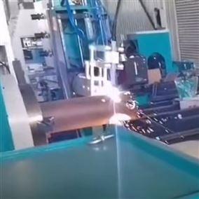 管材切割五轴数控相贯线切割设备